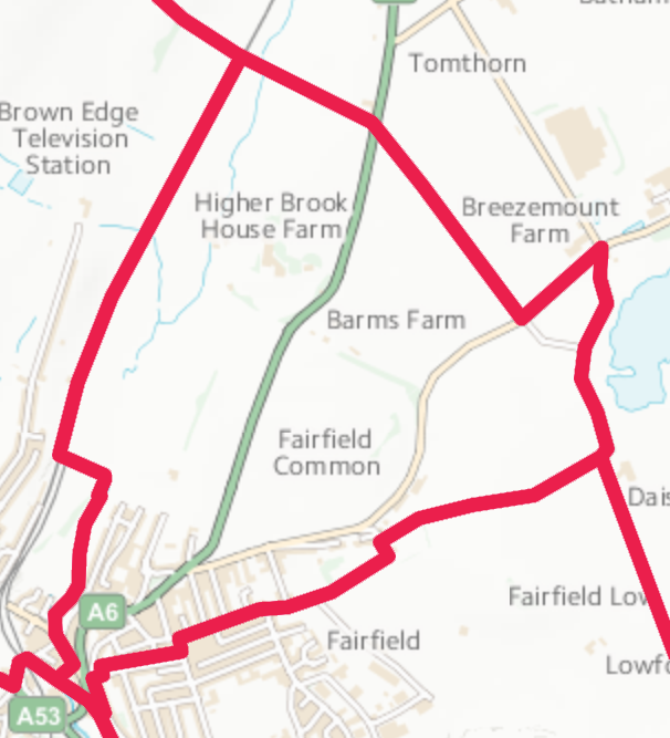 Map of Barms Ward