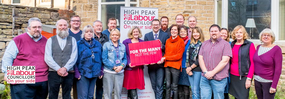 High Peak Labour Group and candidates for 2019 with Andrew Gwynne MP and Ruth George MP